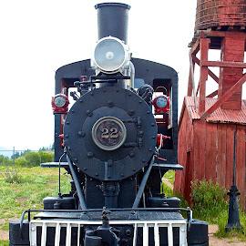 Old locomotive by Dan Ferrin - Transportation Trains ( steam locomotive, locomotive, train, transportation, trains )