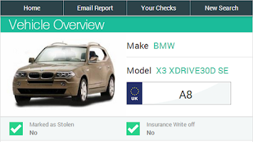Screenshot of Instant Car Check