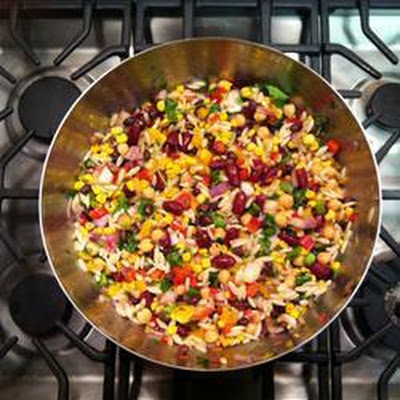 Three Bean And Orzo Salad