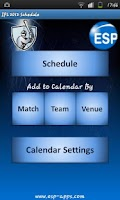 Screenshot of IPL Calendar