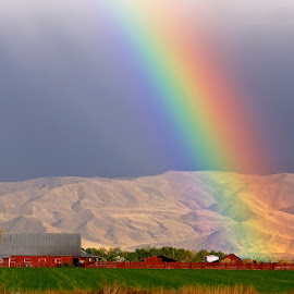 Rainbow Farm by Vern Tunnell - Landscapes Weather