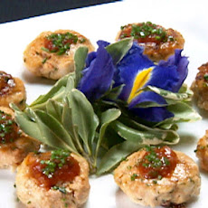 Seafood Spheres on Crostini