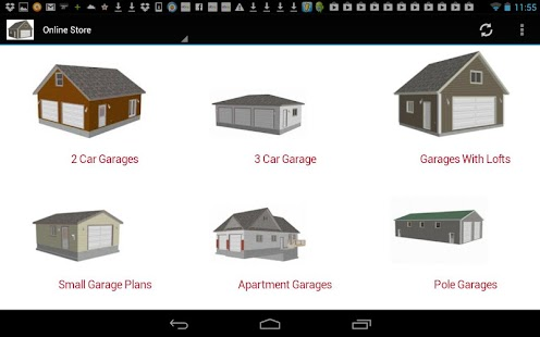 App 24 x 24 garage plans blueprint apk for windows phone for Garage design app