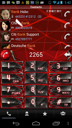 【免費通訊App】RocketDial Cool Red Theme-APP點子