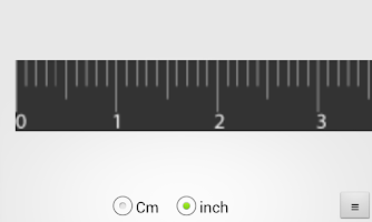 Screenshot of Ruler (cm, inch)