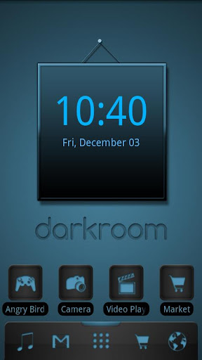 ADW Theme Darkroom Blue