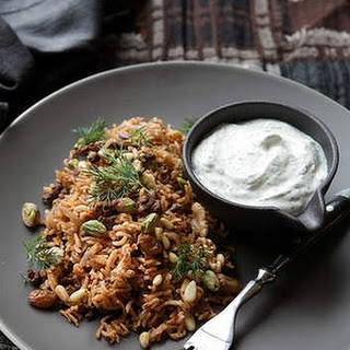 Lamb Rice Pilaf With Walnuts And Yoghurt