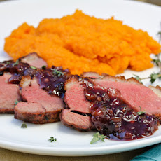 Seared Duck Breast with Blackberry Pan Sauce