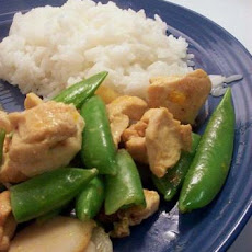 Turkey and Sugar Snap Peas in Orange Mustard Sauce