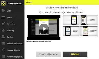 Screenshot of Mobilní eKonto Raiffeisenbank