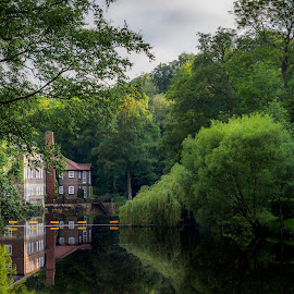Old Mill on the Nidd by Jack Brittain - Buildings & Architecture Homes ( england, uk, nidd river, yorkshire, landscape, knaresborough )