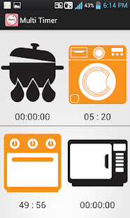 Kitchen Timer (Multiple Alarm) - screenshot