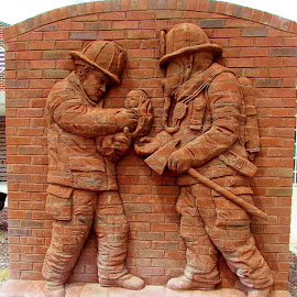 The Firefighter's Monument by Christine Keaton - Buildings & Architecture Statues & Monuments (  )
