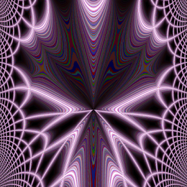 The Purple Web by Tina Dare - Digital Art Abstract ( abstract, patterns, manipulated, designs, distorted, purples, curves, shapes )