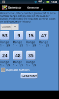 Screenshot of Lottery Droid Lite