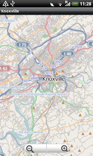 Knoxville Street Map