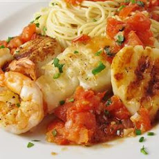 Alaskan Cod and Shrimp with Fresh Tomato