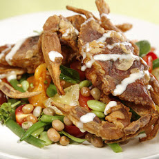 Crispy Soft-Shelled Crabs with Bean Salad