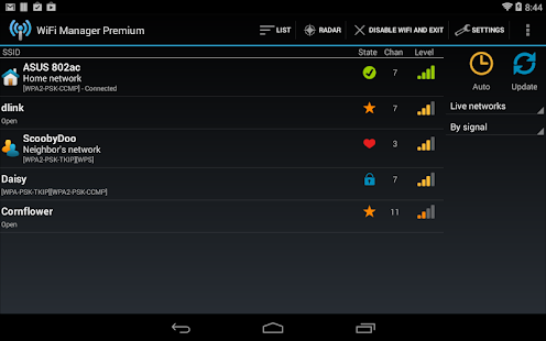 WiFi Manager Screenshot