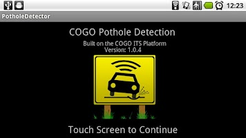 Screenshot of Pothole Detector