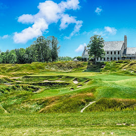 18th Hole-Whistling StraitsKohler, Wis. by Sandy Friedkin - Sports & Fitness Golf ( course, michigan, wis., golf, lake, links, whistling straits,  )