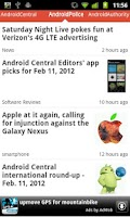 Screenshot of Android News Reader