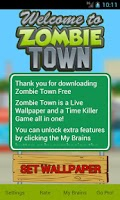 Screenshot of Zombie Town Live Wallpaper