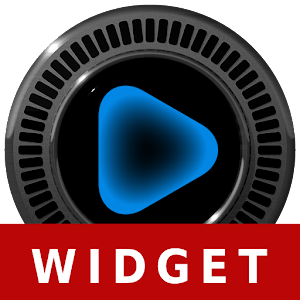 Poweramp Widget NEON BLUE