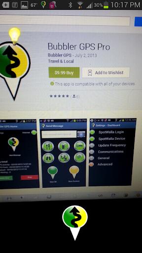 Bubbler GPS Pro - screenshot