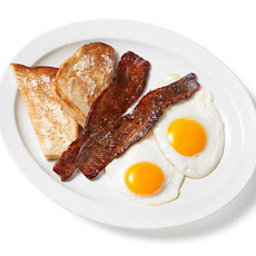 Coffee-Glazed Bacon With Eggs