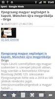 Screenshot of Magyar Sport Hírek