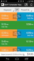 Screenshot of BART App