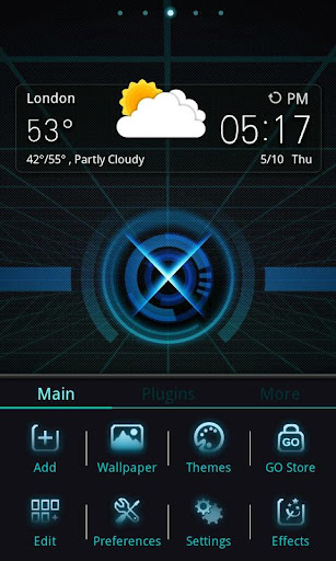 x-ray-go-launcherex-theme for android screenshot