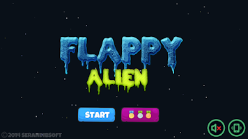 Screenshot of Flappy Alien