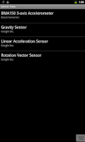 Screenshot of Android Sensors Viewer