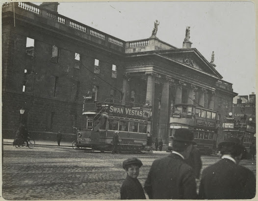 The GPO. Trams, as pictured here, along with horses and bicycles, were the most common forms of transport in Dublin in 1916