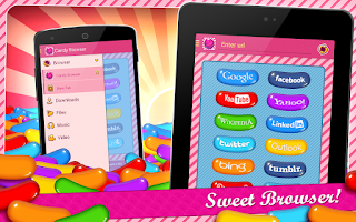 Screenshot of Candy Browser for Android