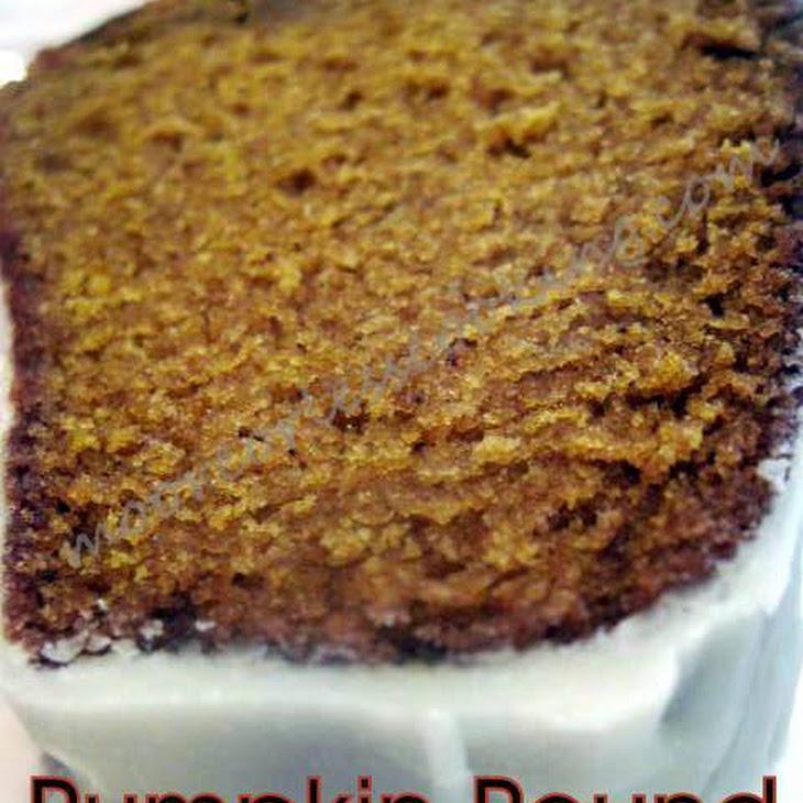 Pumpkin Pound Cake with a Maple Glaze Recipe | Yummly