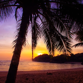 by Hill S - Landscapes Sunsets & Sunrises ( sunset, indonesia, asia, gold, beach, landscape )