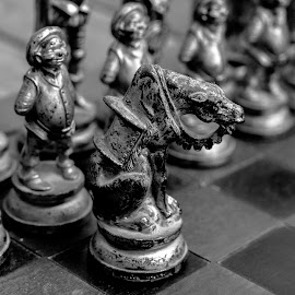 Antigue chess set by Doornkop Photos Hein van Niekerk - Artistic Objects Antiques