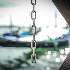 Boat chain by Camelia Cami - Transportation Boats ( water, gondola, chain, venice, transportation, boat )