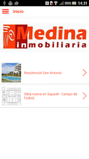 Medina Inmobiliaria - screenshot
