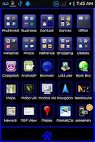 Screenshot of Black-N-Blue Go Launcher Theme