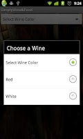 Screenshot of Simply Wine and Food