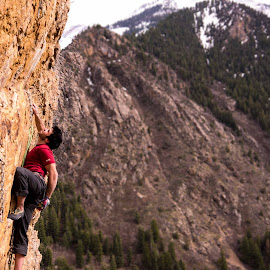 Big Cottonwood 2 by Climb Globe - Sports & Fitness Climbing ( rock climbing, climbing, utah, big cottonwood, salt lake city )