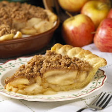 Peanut Crumb Apple Pie