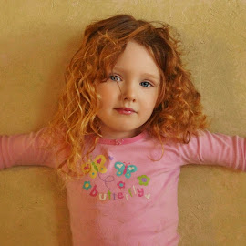Hands Against the Wall by Cheryl Korotky - Babies & Children Child Portraits