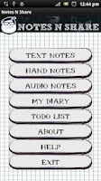 Screenshot of NOTES N SHARE (Notepad)