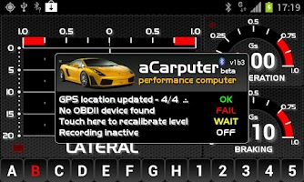 Screenshot of aCarputer GPS OBD2