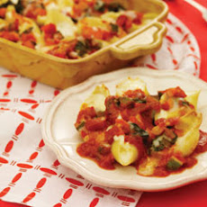 Stuffed Shells With Vegetable Bolognese Sauce